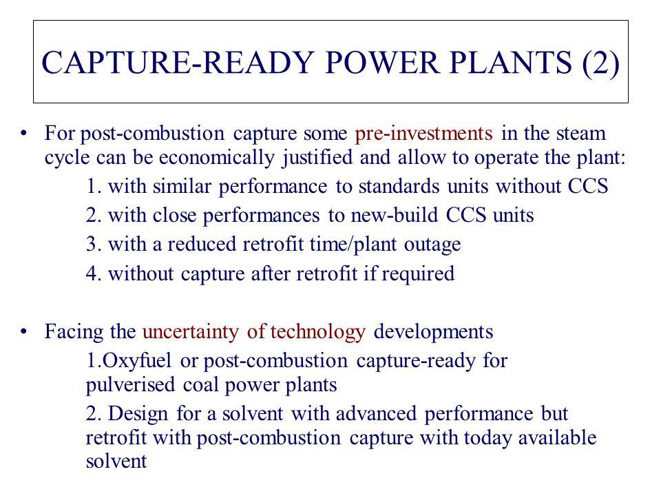 CAPTURE-READY POWER PLANTS (2)