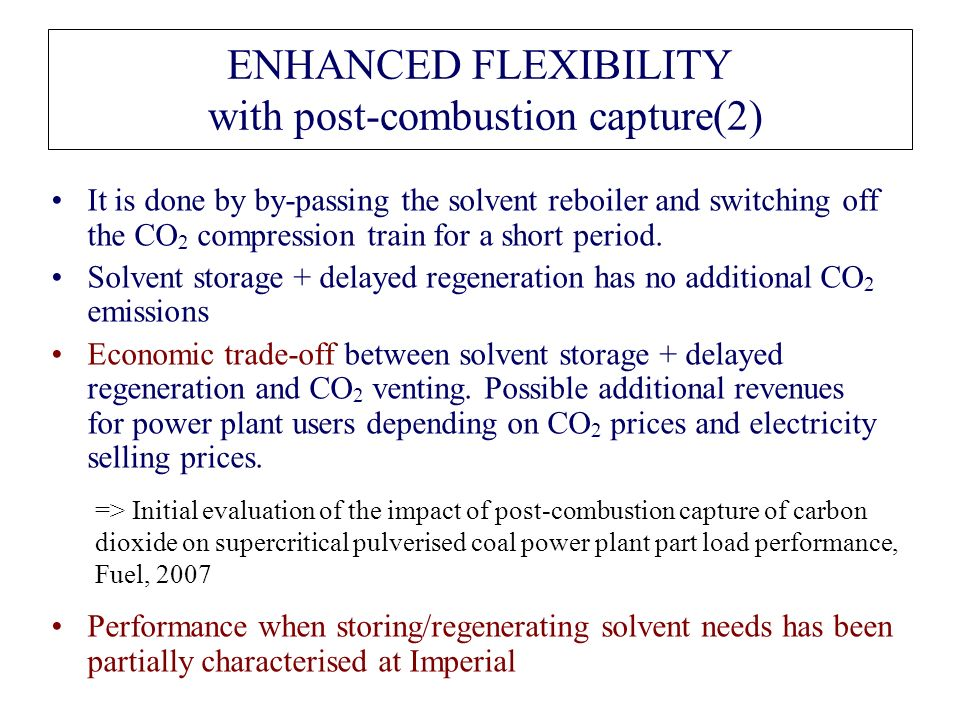 ENHANCED FLEXIBILITY with post-combustion capture(2)