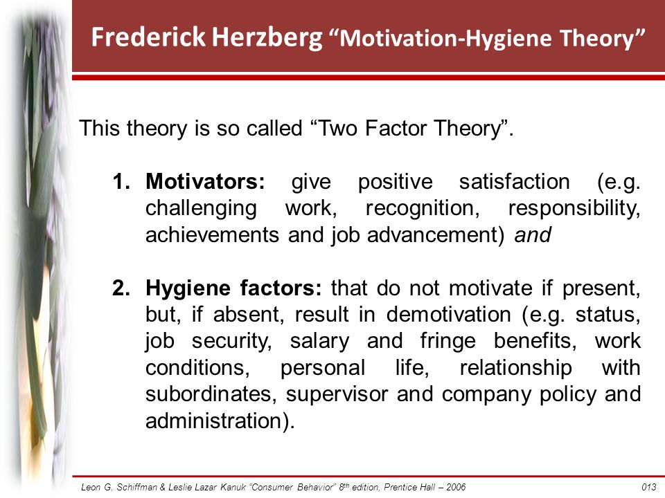 an study of herzbergs theory of job satisfaction Academic journal article public personnel management comparative study of herzberg's two-factor theory of job satisfaction among public and private sectors.
