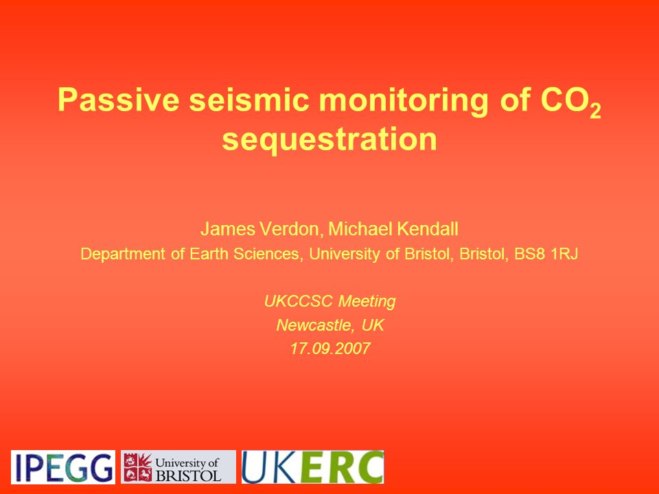 Passive seismic monitoring of CO2 sequestration