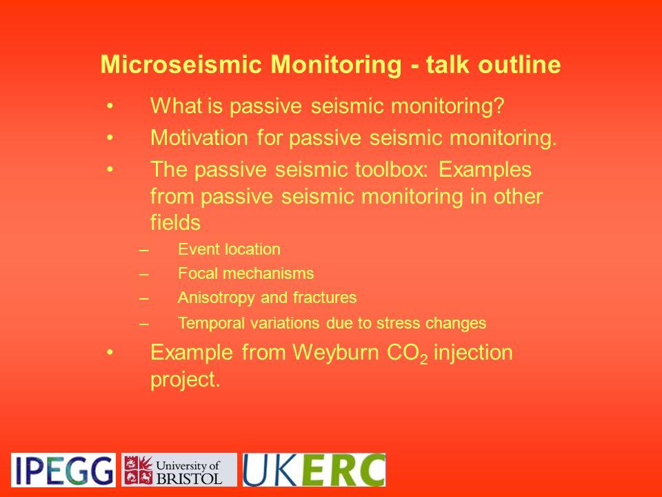 Microseismic Monitoring - talk outline