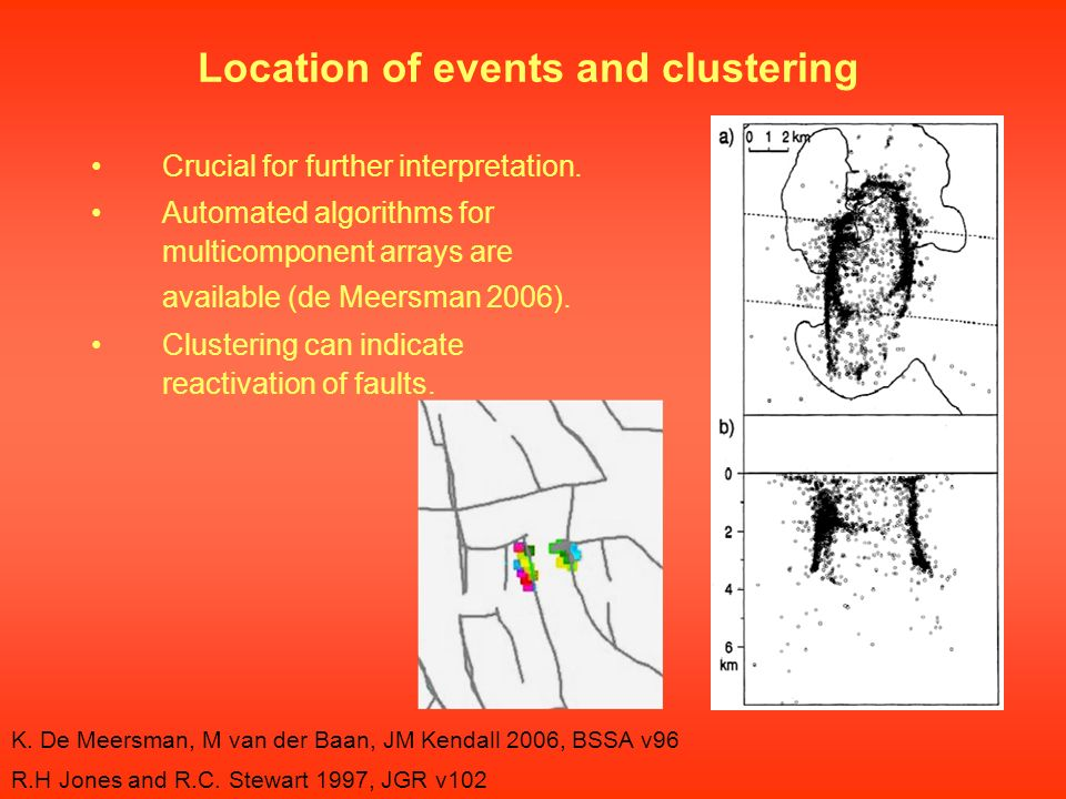 Location of events and clustering