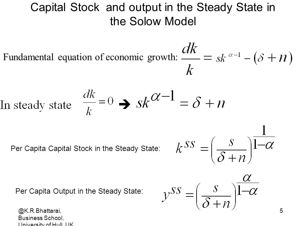 Capital Stock and output in the Steady State in the Solow Model