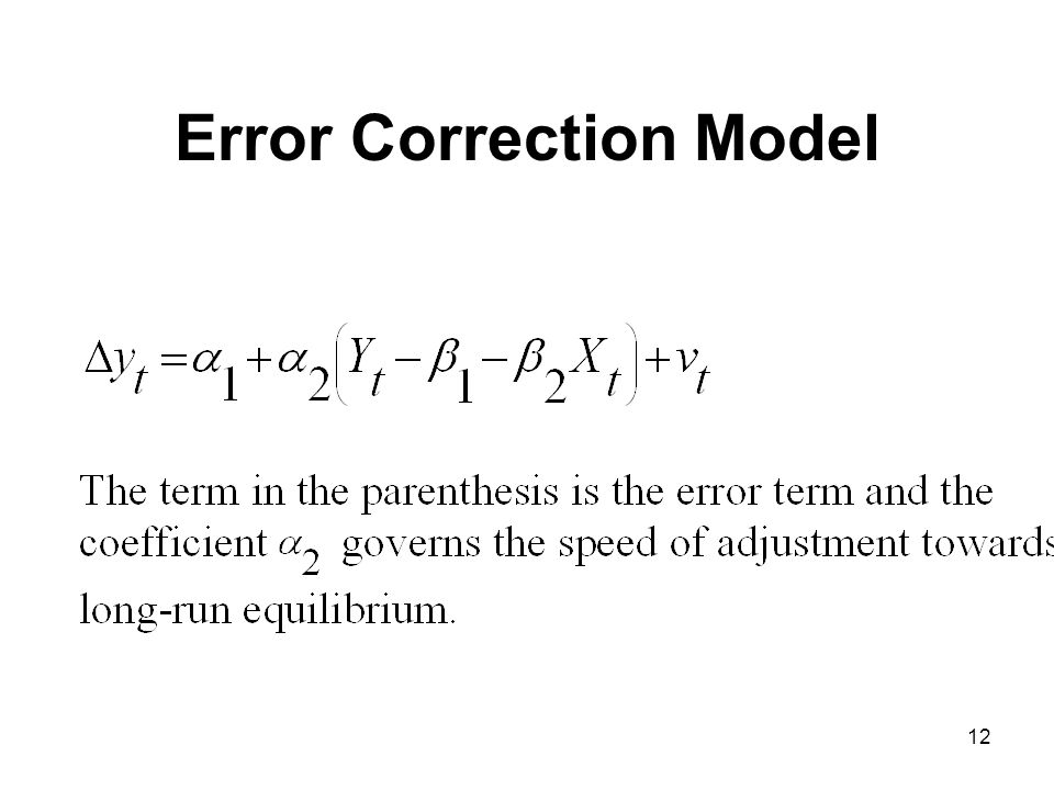 Error Correction Model