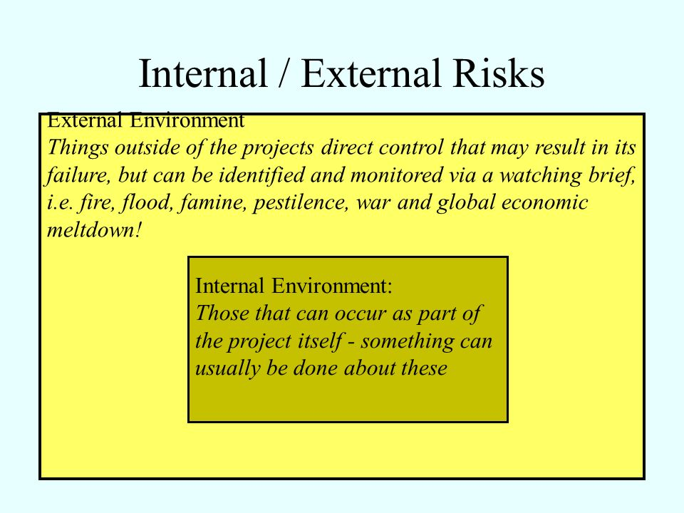 Internal / External Risks
