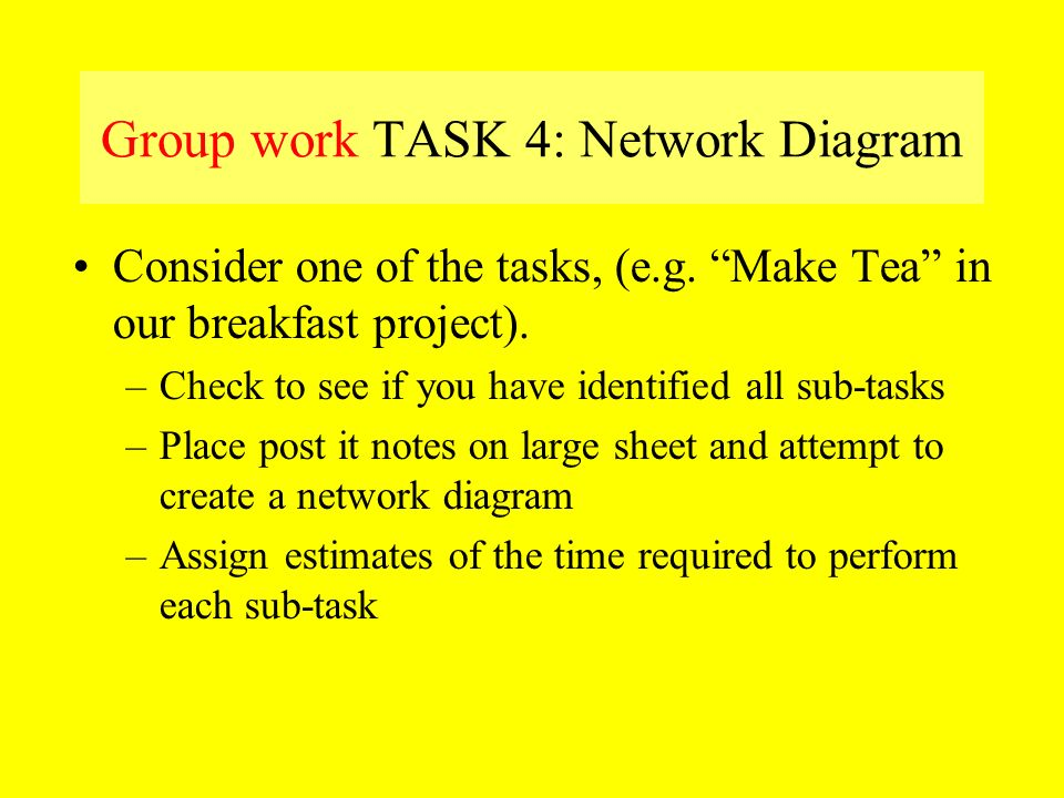 Group work TASK 4: Network Diagram