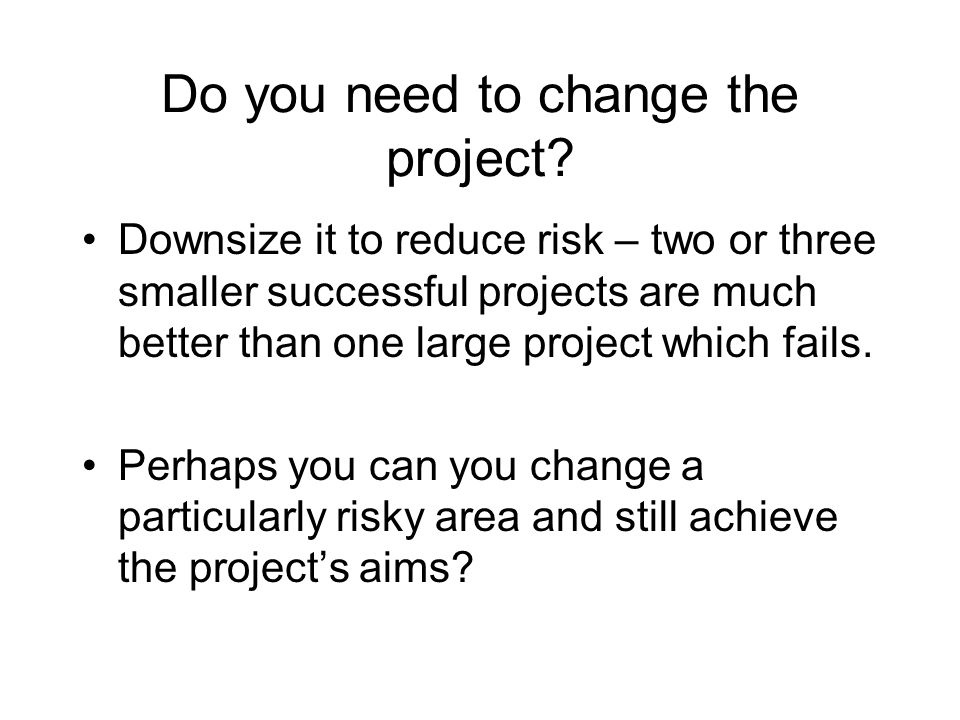 Do you need to change the project