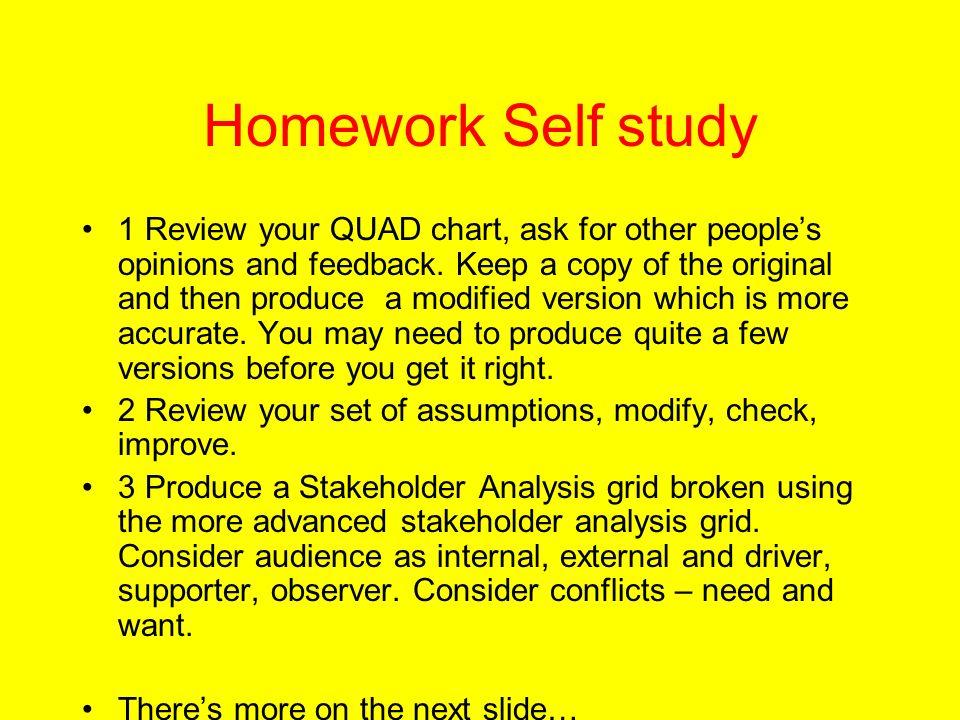 Homework Self study