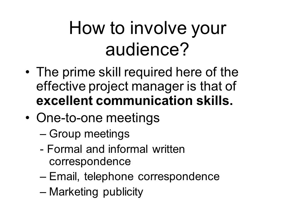 How to involve your audience