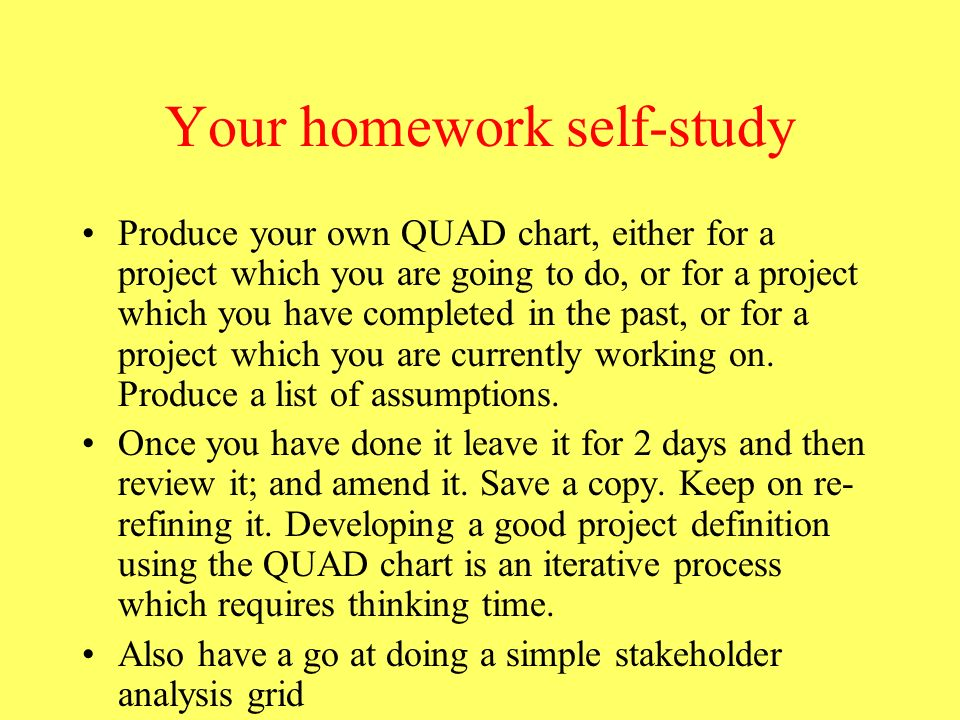 Your homework self-study