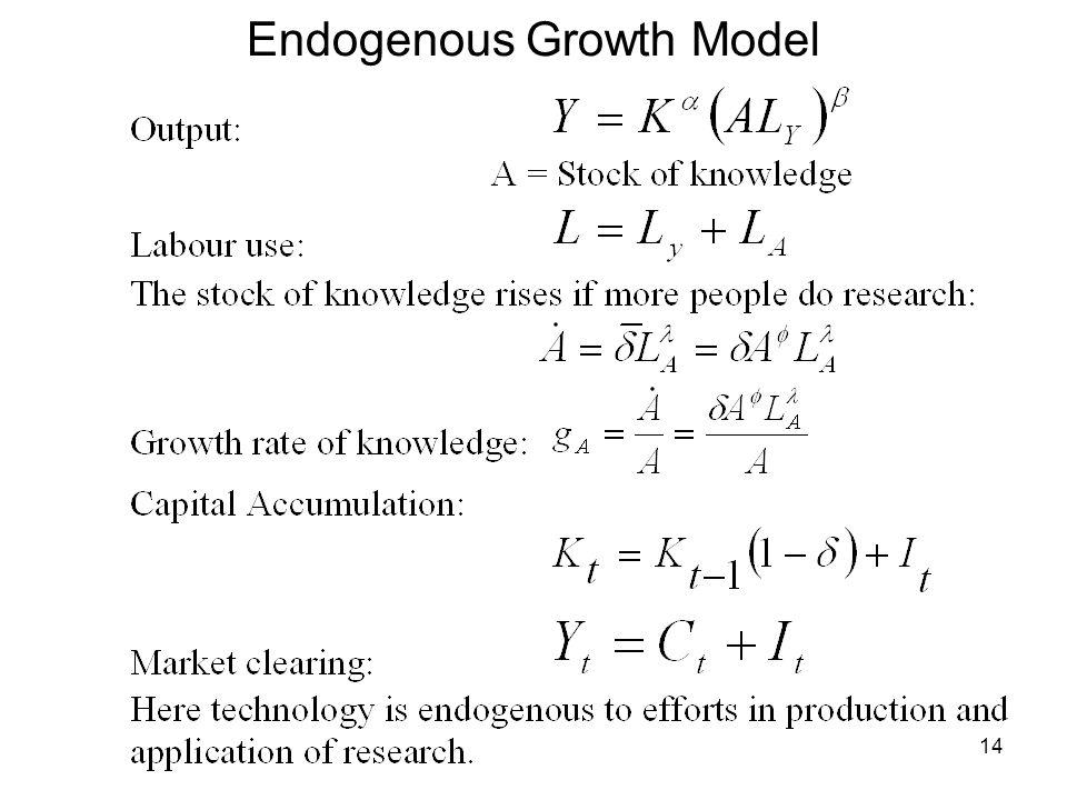 Endogenous Growth Model