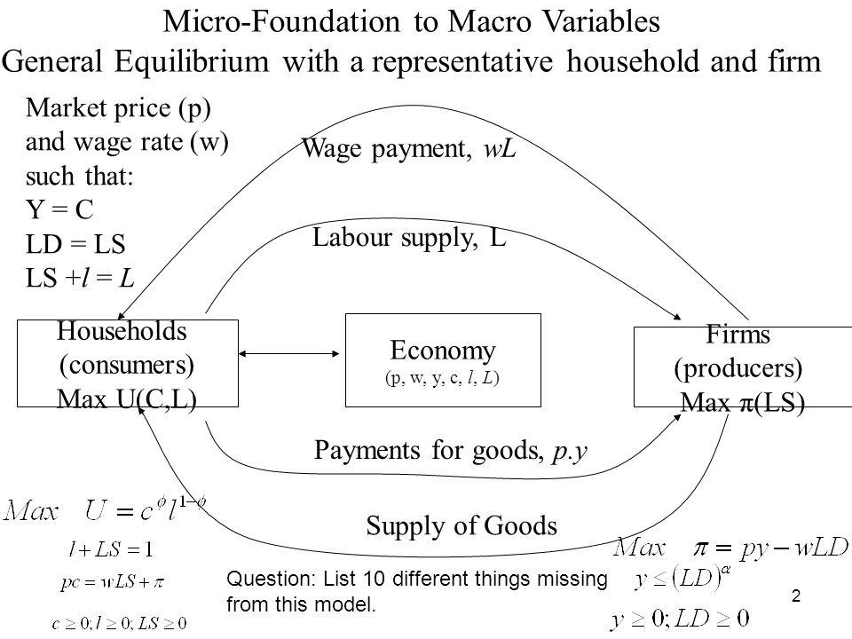 Micro-Foundation to Macro Variables