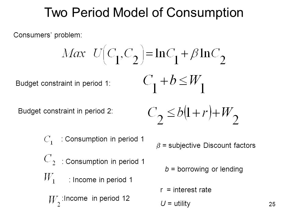 Two Period Model of Consumption