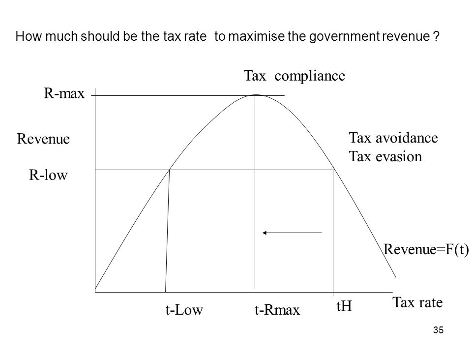 How much should be the tax rate to maximise the government revenue