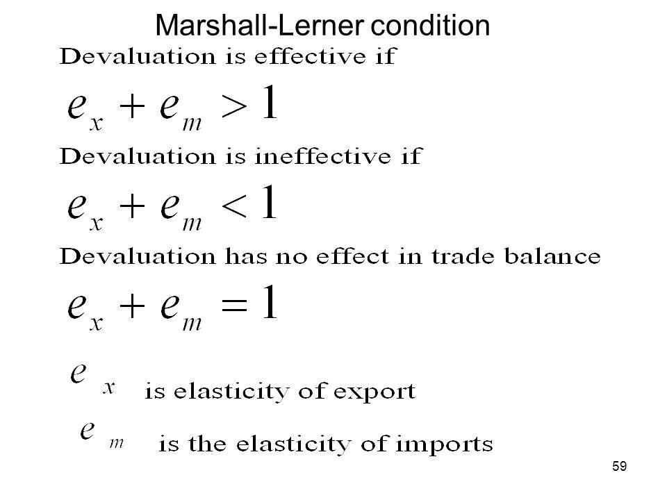 Marshall-Lerner condition