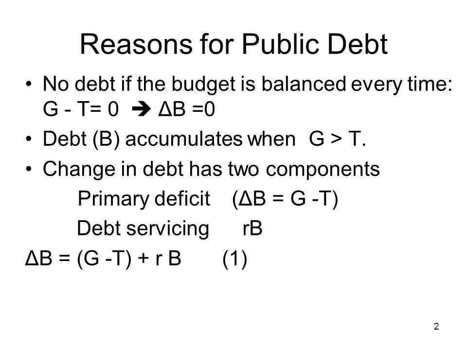 Reasons for Public Debt