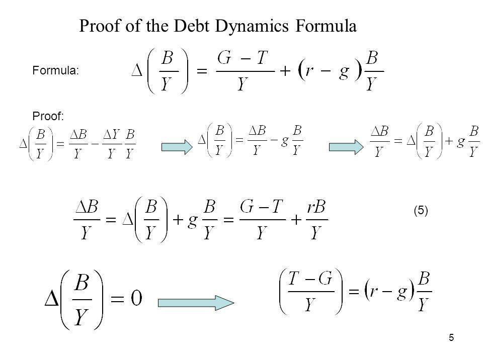 Proof of the Debt Dynamics Formula