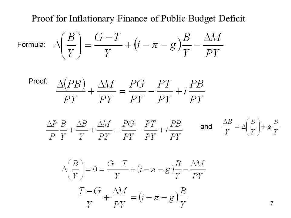 Proof for Inflationary Finance of Public Budget Deficit