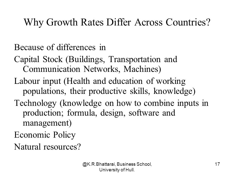 Why Growth Rates Differ Across Countries