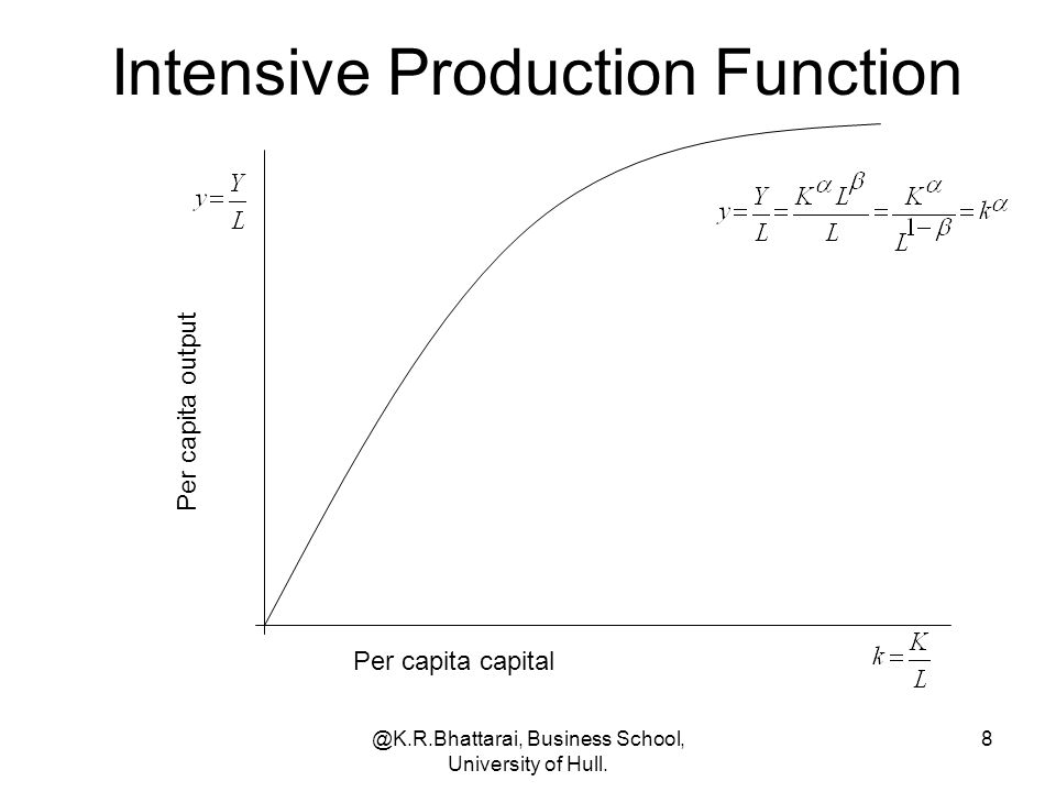 Intensive Production Function