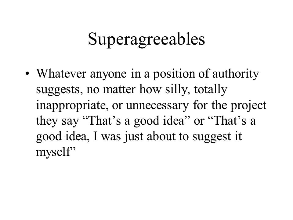 Superagreeables