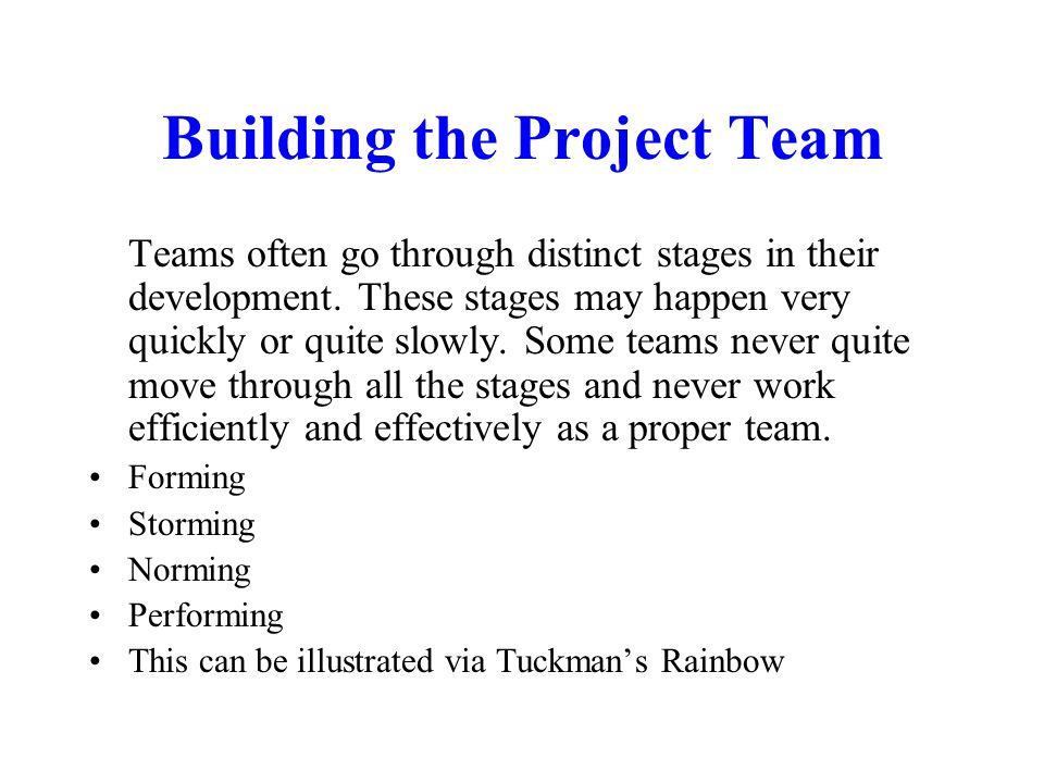 Building the Project Team