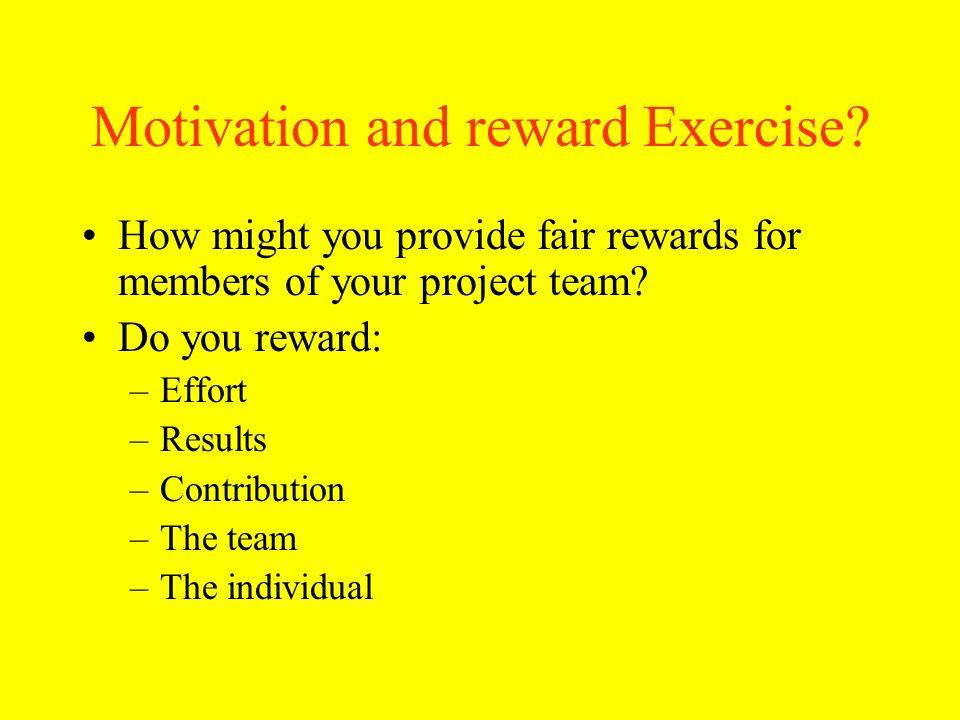 Motivation and reward Exercise