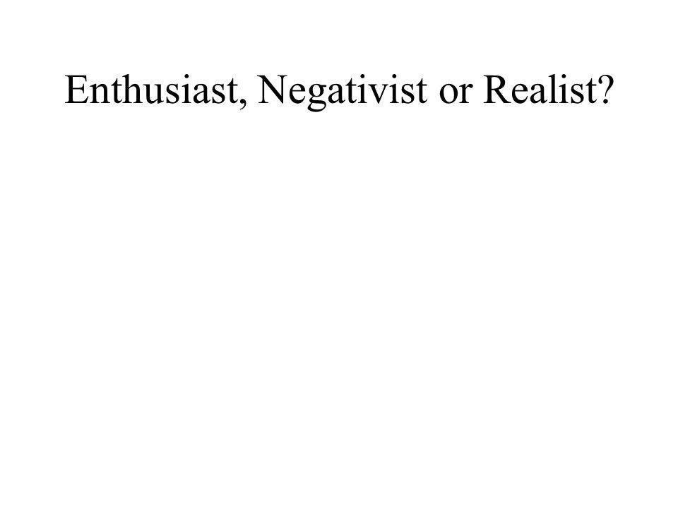 Enthusiast, Negativist or Realist