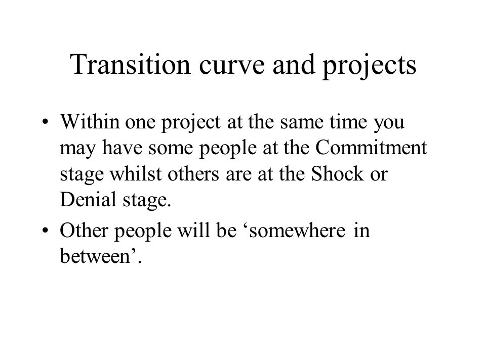 Transition curve and projects