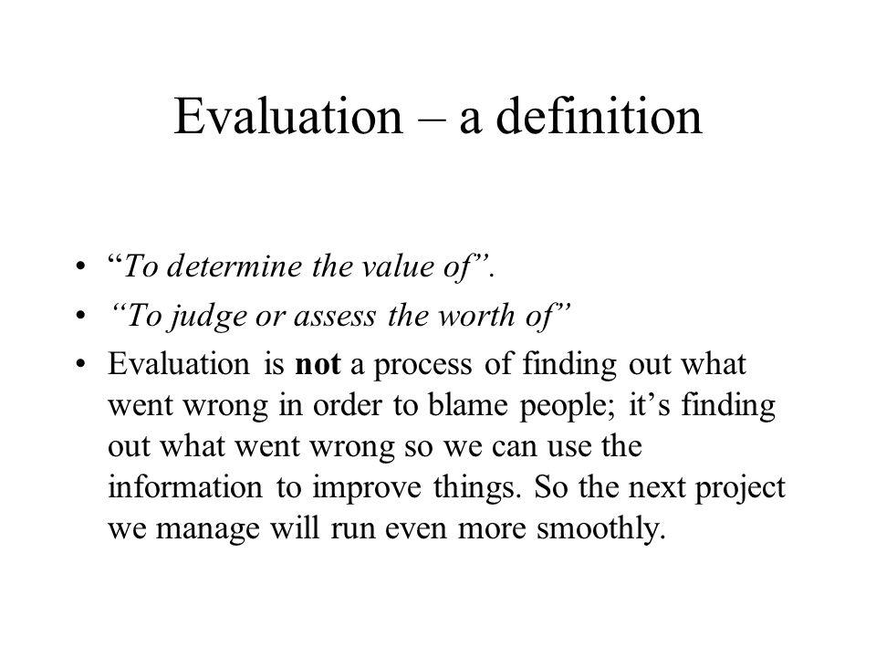Evaluation – a definition