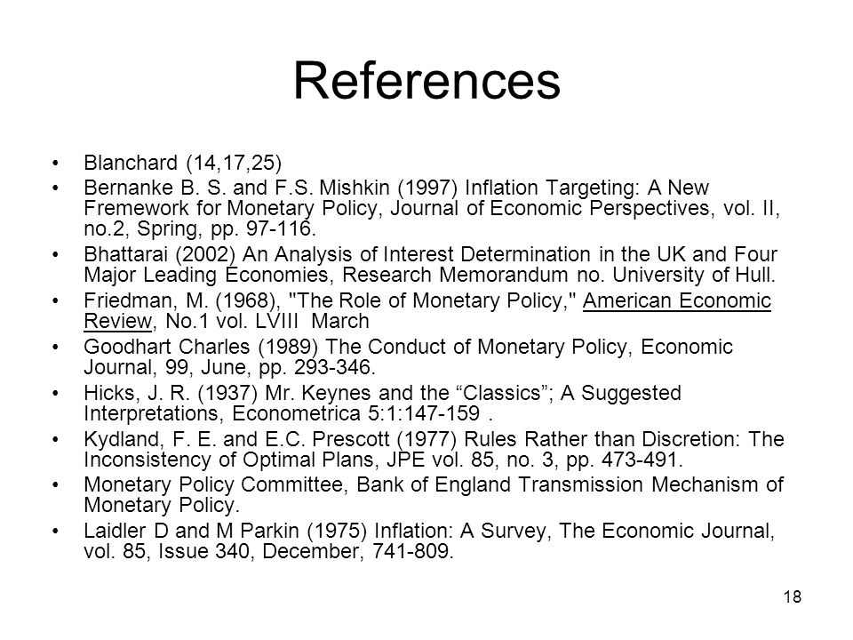 References Blanchard (14,17,25)