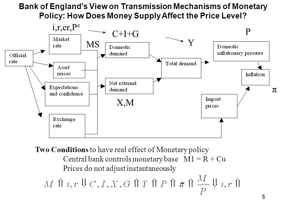 Bank of England's View on Transmission Mechanisms of Monetary Policy: How Does Money Supply Affect the Price Level