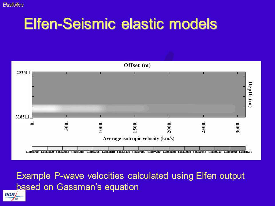 Elfen-Seismic elastic models