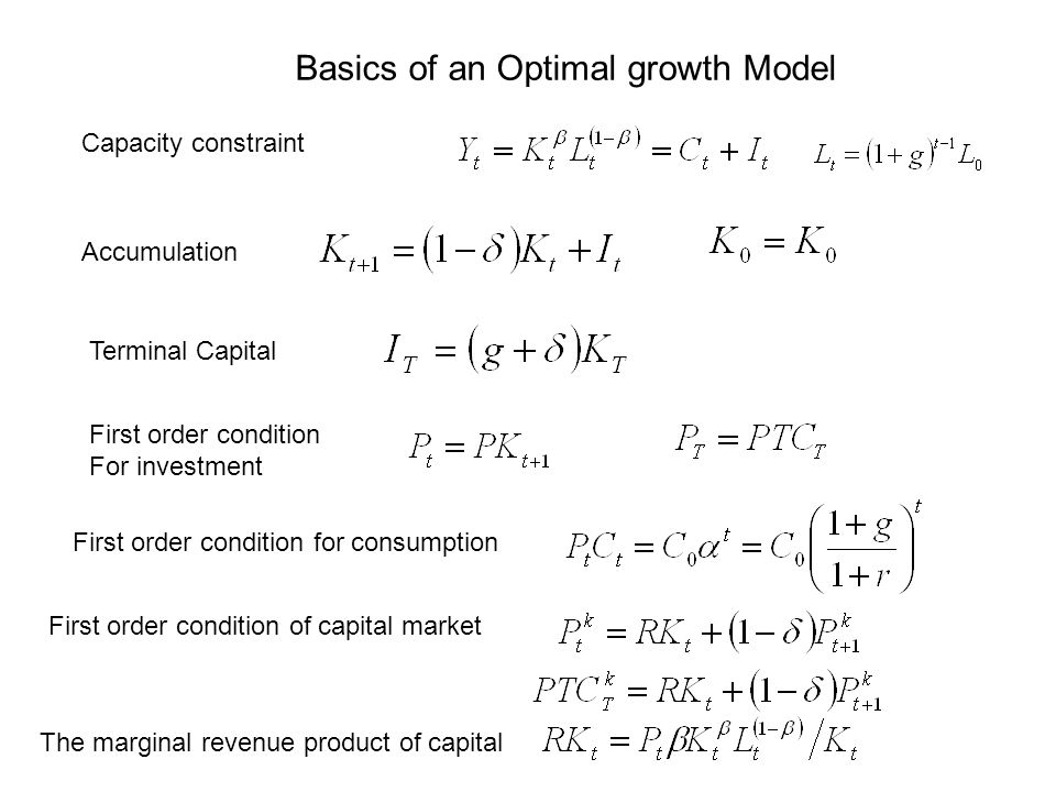 Basics of an Optimal growth Model