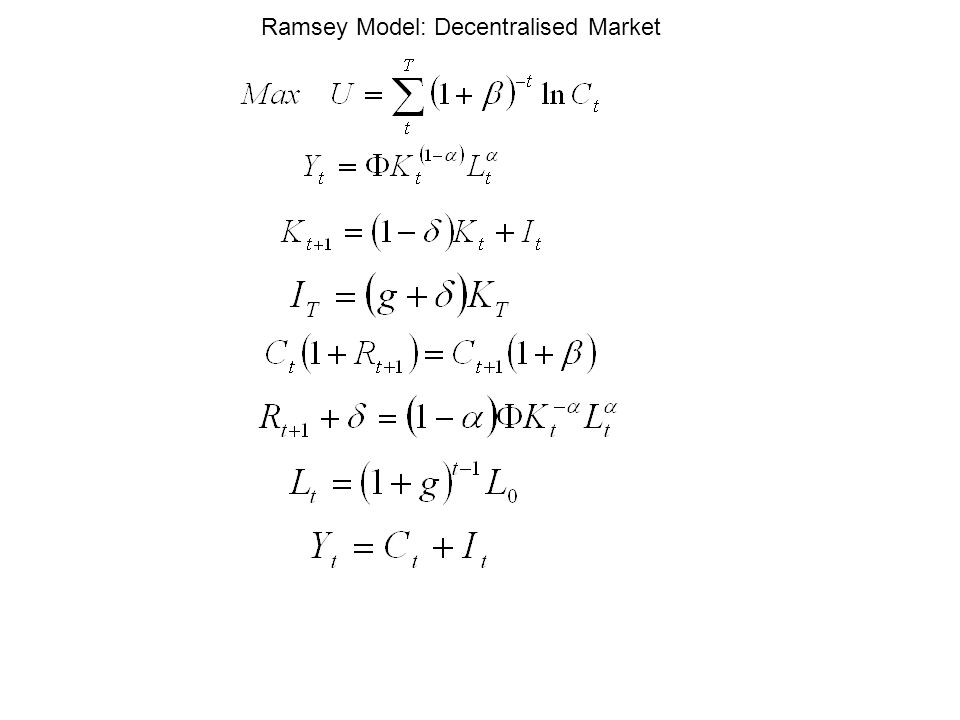 Ramsey Model: Decentralised Market