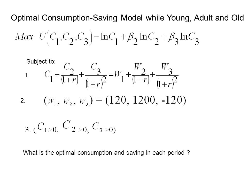 Optimal Consumption-Saving Model while Young, Adult and Old