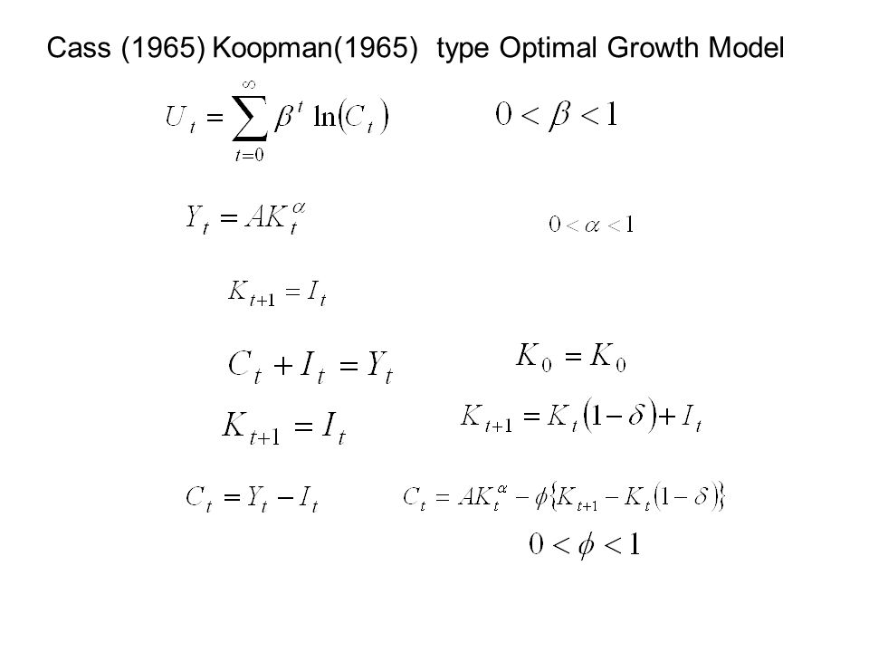Cass (1965) Koopman(1965) type Optimal Growth Model