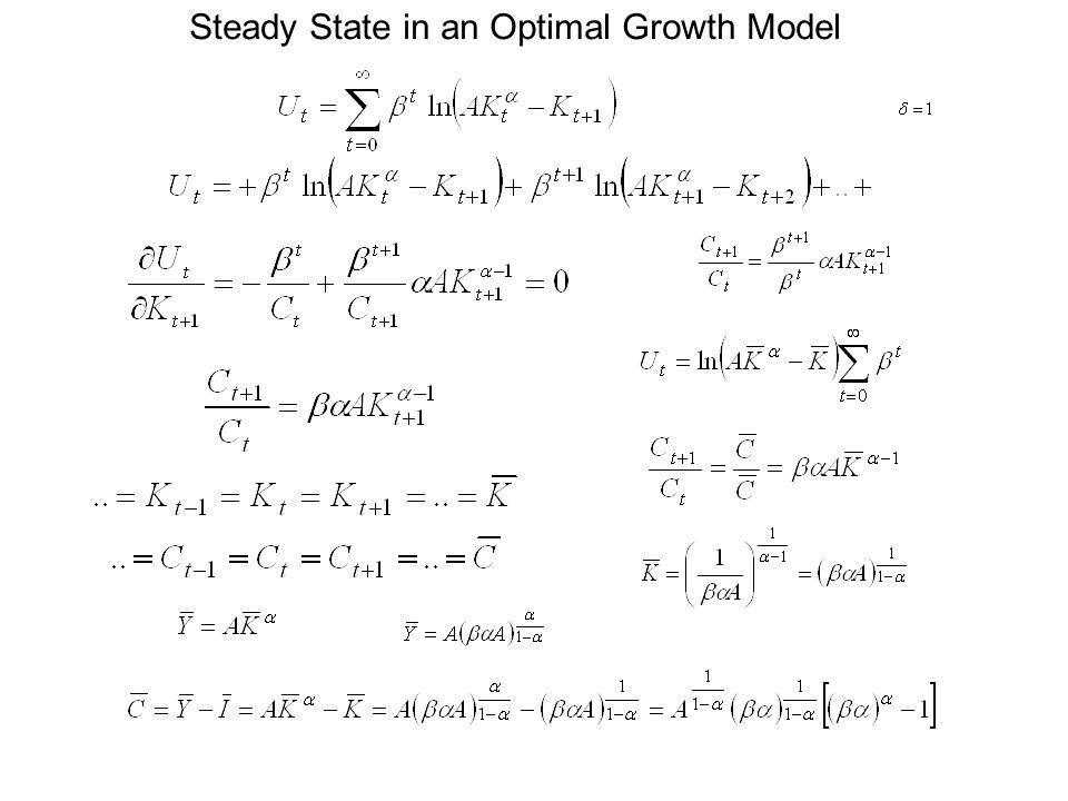 Steady State in an Optimal Growth Model