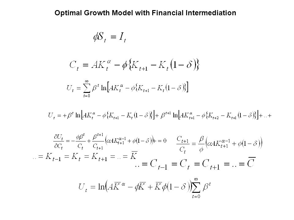 Optimal Growth Model with Financial Intermediation