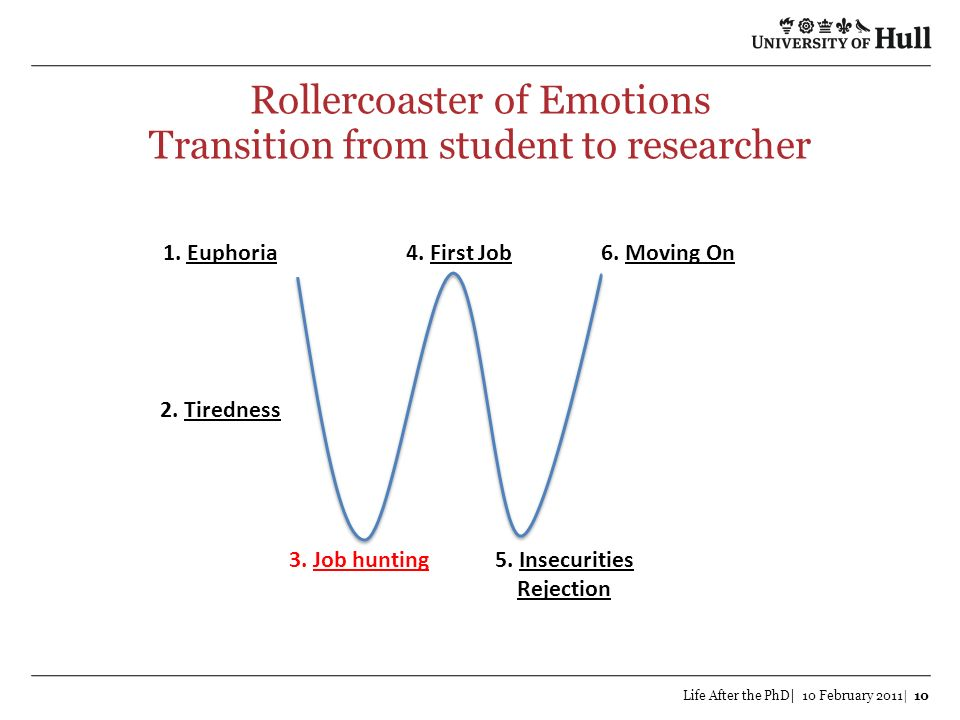Rollercoaster of Emotions Transition from student to researcher