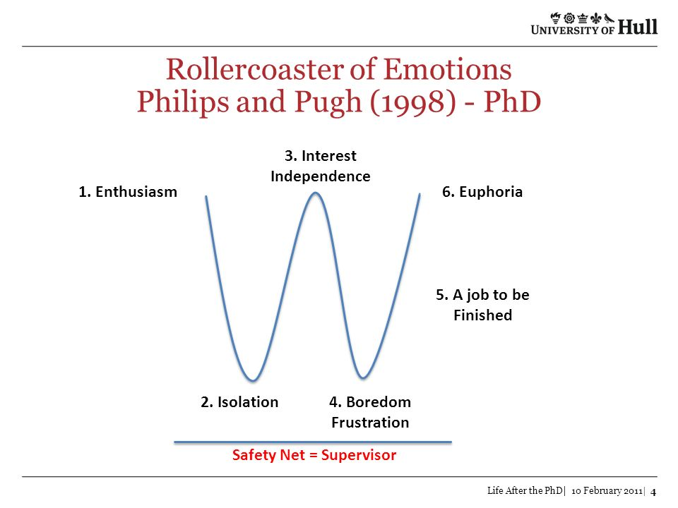 Rollercoaster of Emotions Philips and Pugh (1998) - PhD