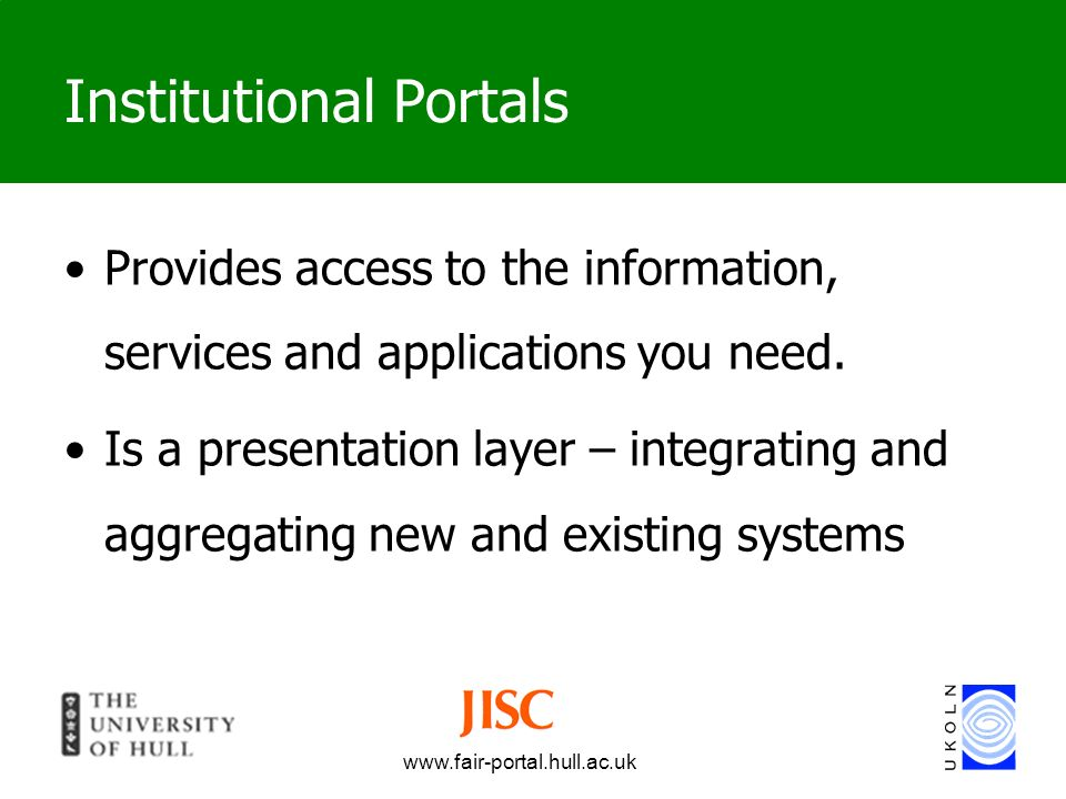 Institutional Portals