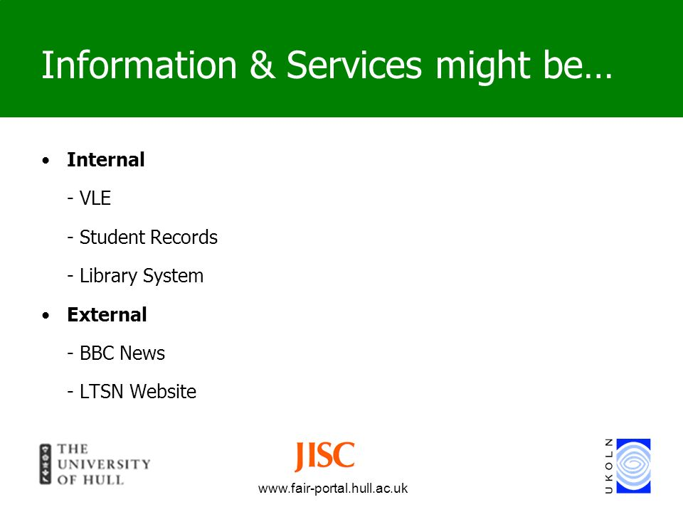 Information & Services might be…