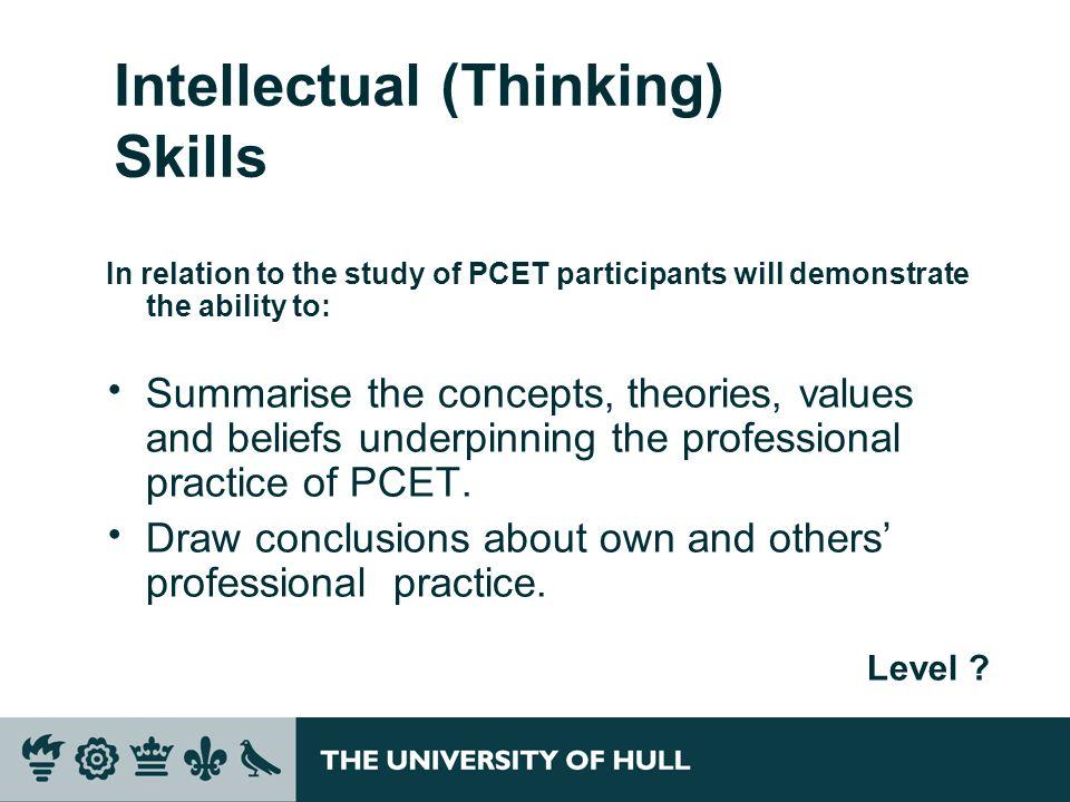 Intellectual (Thinking) Skills