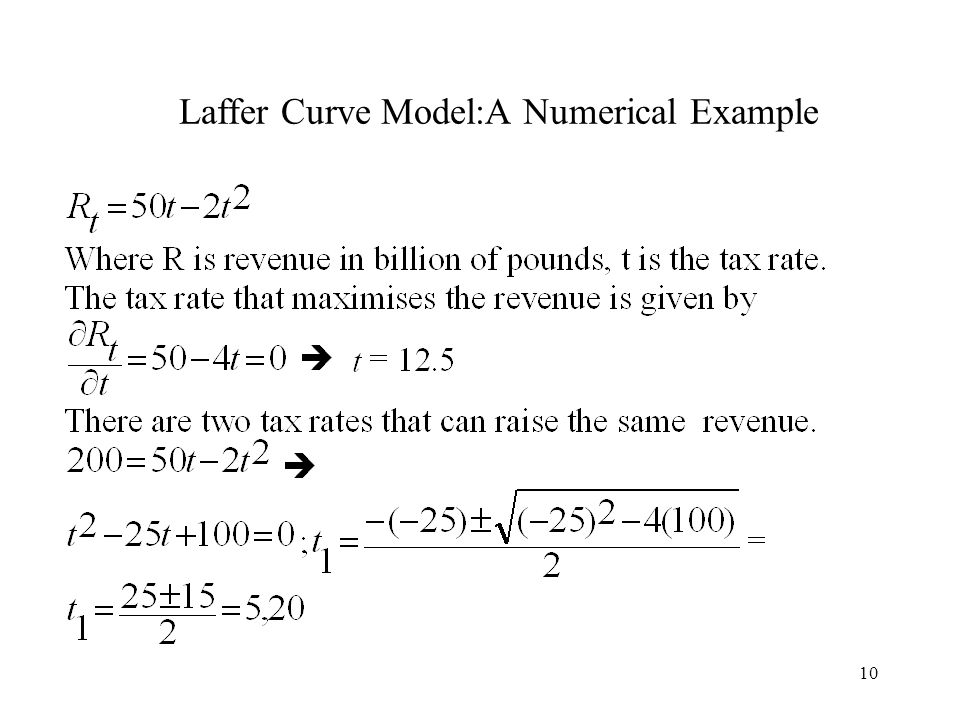 Laffer Curve Model:A Numerical Example