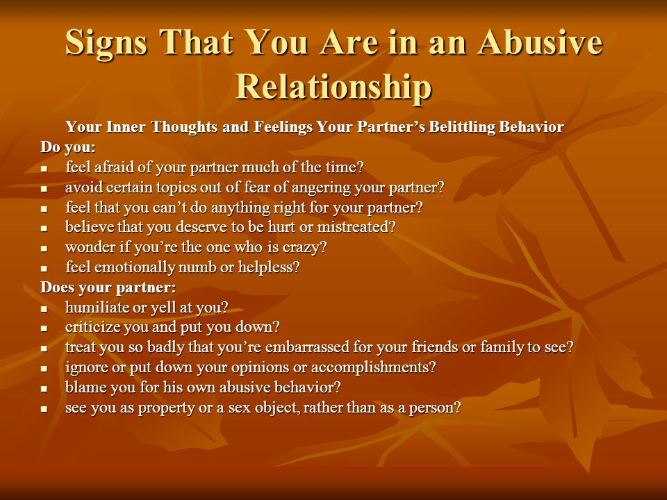treble nine signs you are in an abusive relationship