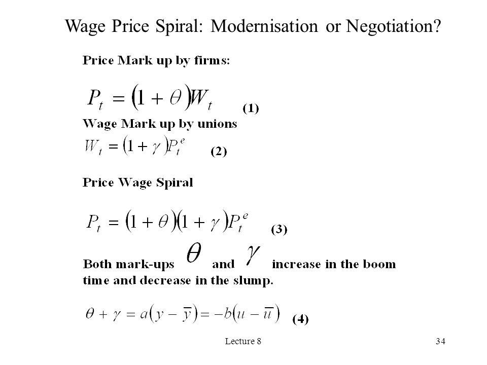 Wage Price Spiral: Modernisation or Negotiation