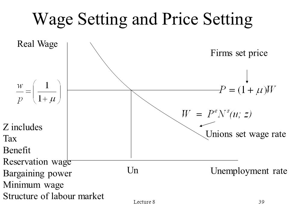 Wage Setting and Price Setting