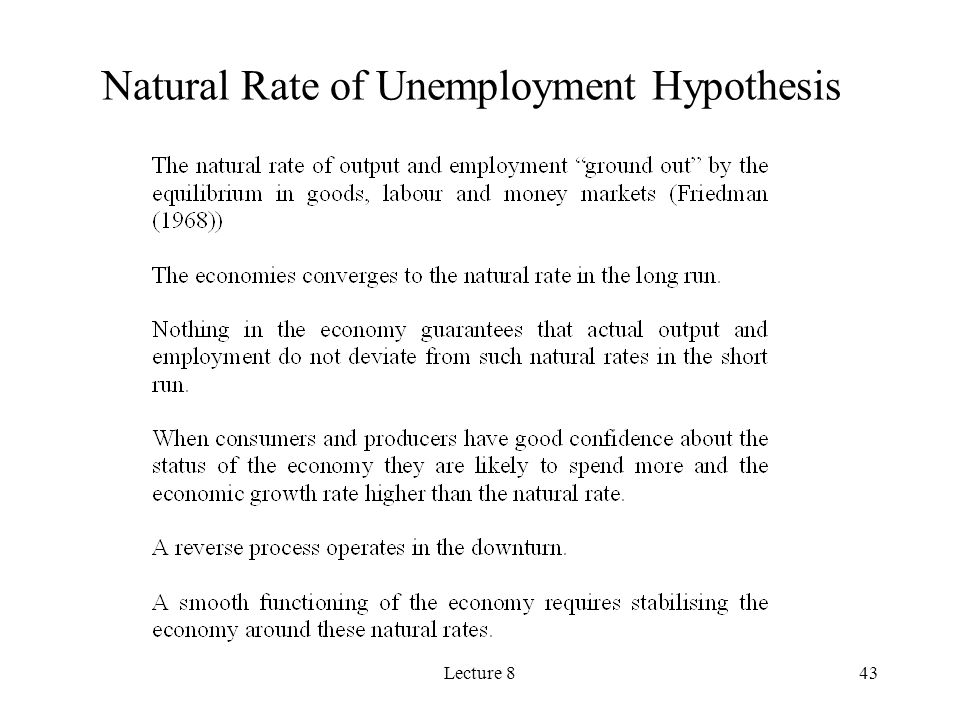 Natural Rate of Unemployment Hypothesis