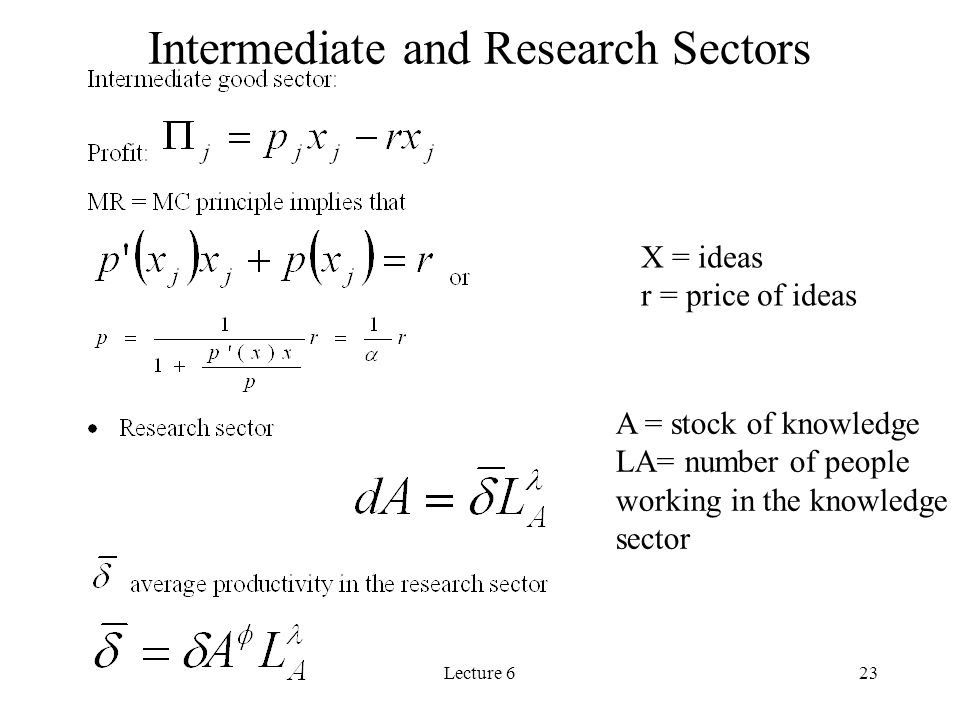 Intermediate and Research Sectors